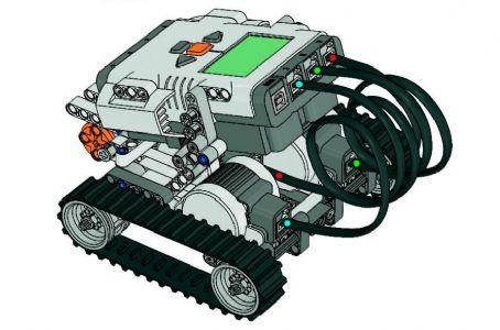 用乐高拼机器人图纸